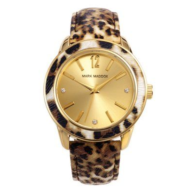 Mark Maddox - Ladies Animal Print Leather Strap Watch - MC3004-95 - Online Price: £55.00