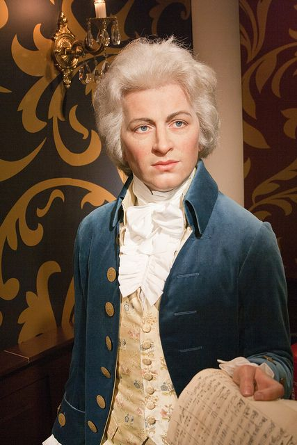 Mozart wax figure at Madame Tussauds