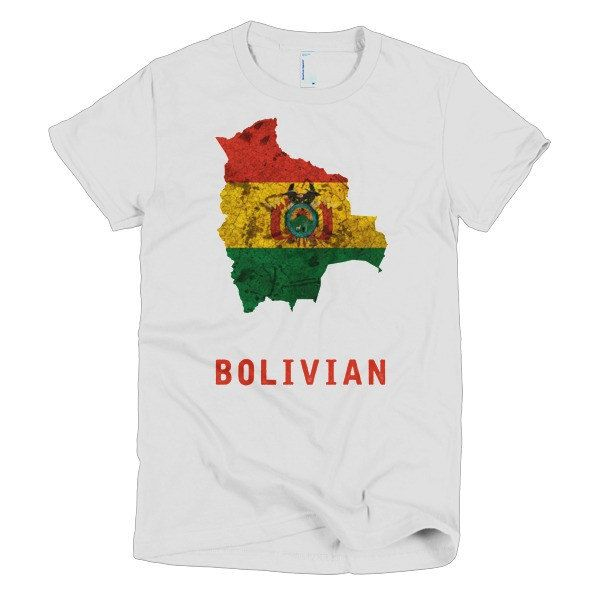 The Bolivian Flag T-Shirt (women) by TravelTeez on Etsy