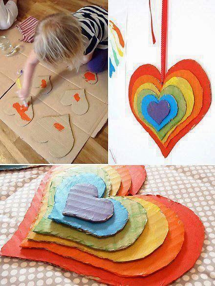 mutlu anne babalar mutlu çocuklar: renkli kalpler...