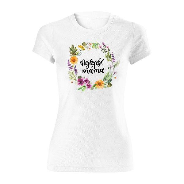 Dámské funkční tričko s potiskem Bylinková máma