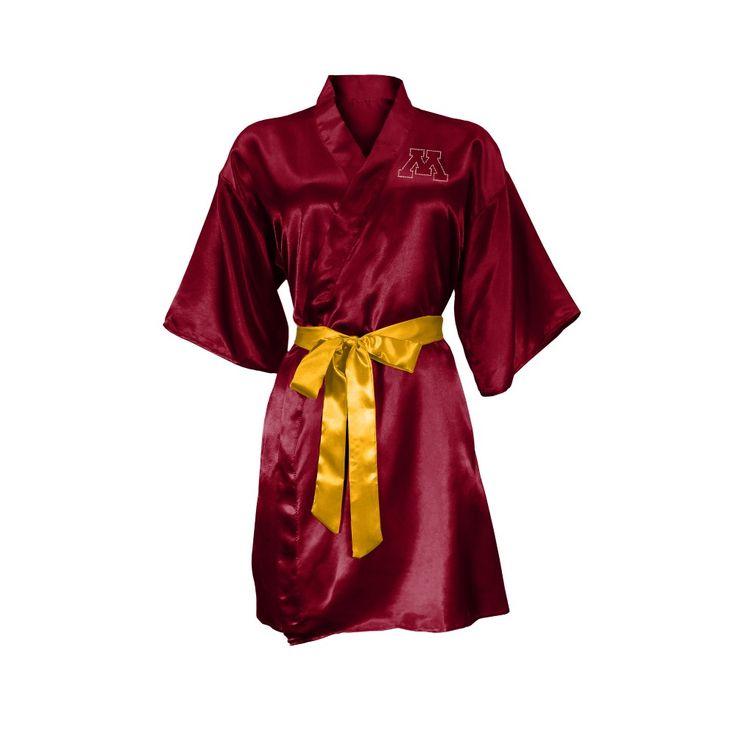 NCAA Minnesota Golden Gophers Little Earth Satin Kimono - S/M, Size: Small