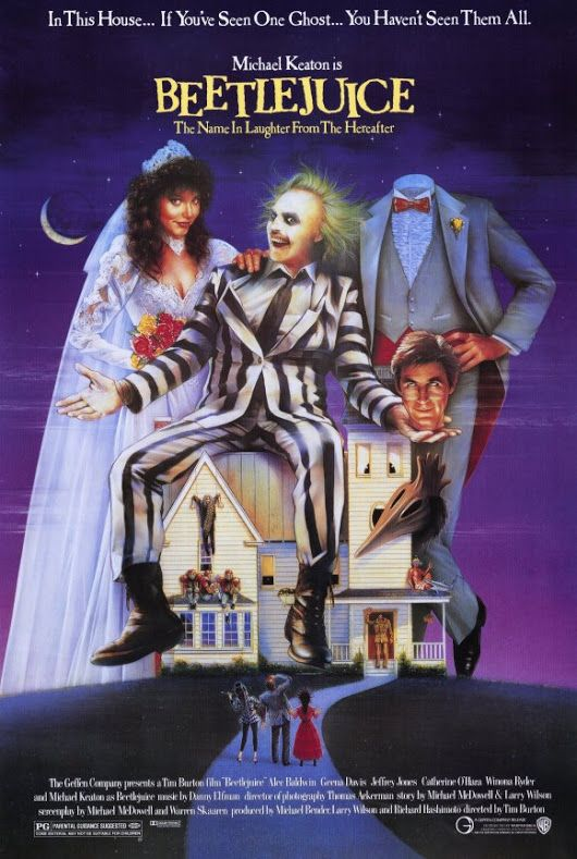 """Beetlejuice"" debuted in theaters. ""Beetlejuice"" is an American comedy horror directed by Tim Burton, produced by The Geffen Film Company and distributed by Warner Bros. The plot revolves around a recently deceased young couple (Alec Baldwin and Geena Davis) who become ghosts haunting their former home, and an obnoxious, devious ghost named Betelgeuse (pronounced Beetlejuice, portrayed by Michael Keaton)"