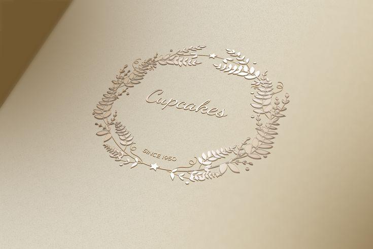 Création de logo cupcakes, pâtisserie.  Graphiste Marseille