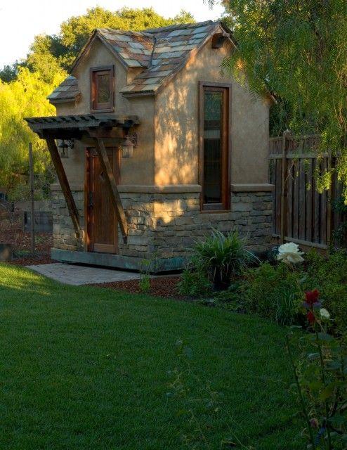 114 best garden shed images on pinterest garden houses for Traditional garden buildings