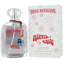 TRUE RELIGION HIPPIE CHIC Perfume by True Religion... Fragrance Notes: Fruity, Sweet, Woody, Floral, And Spicy Notes. Recommended Use: casual... recommended age: mature scent strength: moderate classification: citrus/fruity recommended use: casual scent life: 1-5 hours