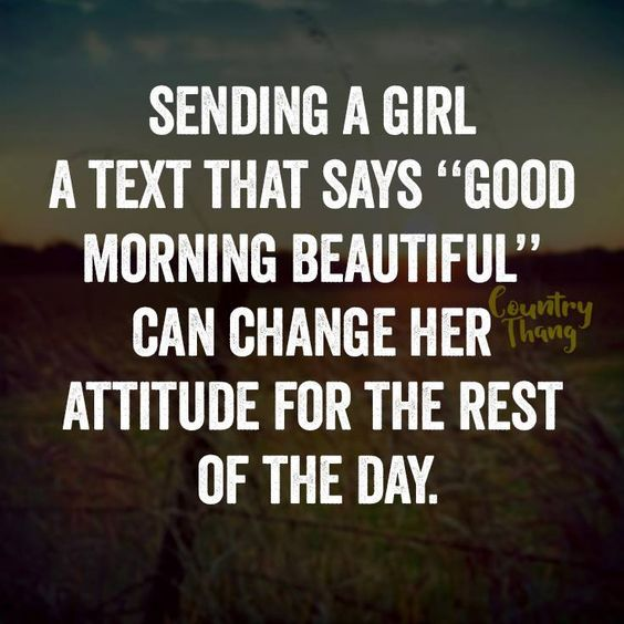 Good morning beautiful text dating