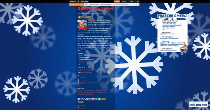 Bekijk hier mijn aangepaste About.me pagina: