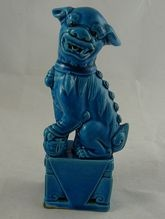 Chinese Export Porcelain Foo Dog Figure in Turquoise Glaze