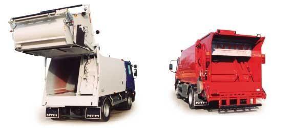 NTM KG-2K Śmieciarki dwukomorowe do zbiòrki dwóch rodzajów odpadów jednym pojazdem. Refuse truck, rear loader, garbage vehicles, Kommunalfahrzeuge, Benne a ordures, Recolectores, piccoli camion, Carico posteriore