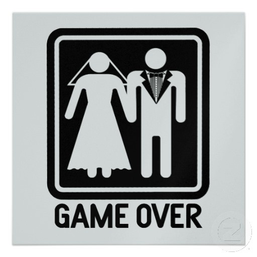 Game Over Funny Postcards