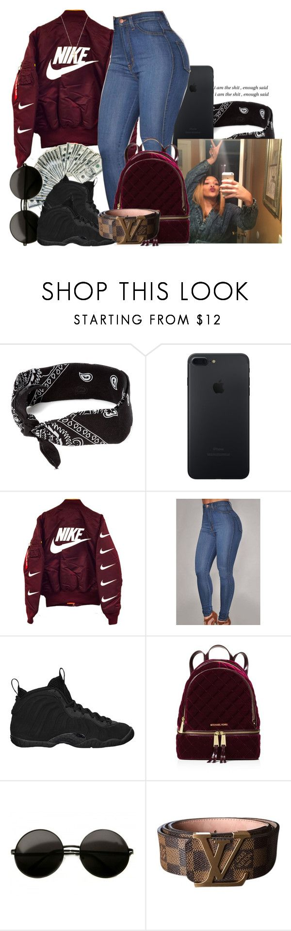 """▌cryin' in my arms like a nig`a wrecked you , runnin' to the restroom ▌"" by trap-ical ❤ liked on Polyvore featuring claire's, NIKE, MICHAEL Michael Kors, Louis Vuitton and Gucci"