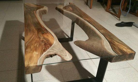 Tavolino in legno di magnolia e vetro Magnolia wood di Ghecipol