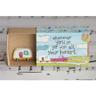 Camper Matchbox Card (and what other matchbox cards could I make! and what can I use instead of a matchbox!)