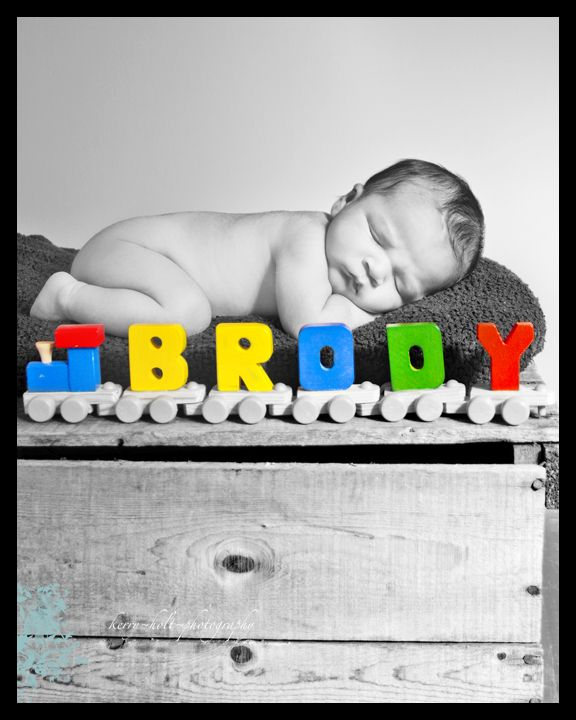 Baby Boy, Newborn, Train, Photography