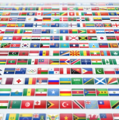 """We've created a flag for every major country in the world, plus a few more. And we've created them in several sizes so they'll look great no matter where you're using them – 16×16, 24×24, 32×32, 48×48, and 64×64. We've also provided them in 2 variants – as flat and standard, and with a lovely glossy finish."""