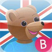 Learn English with Little Brown Bear - En sjov måde at lære de første engelske ord på, for 3 til 6 årige.
