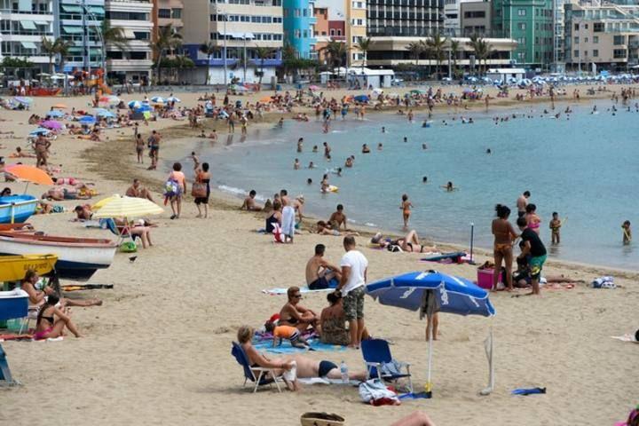 Día de playa en Las Canteras