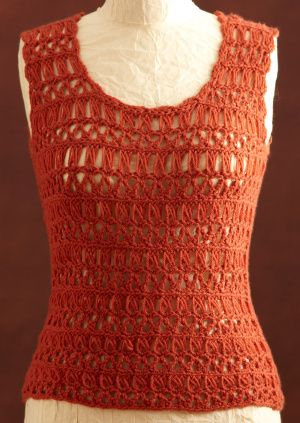 Broomstick Lace Crochet Shell