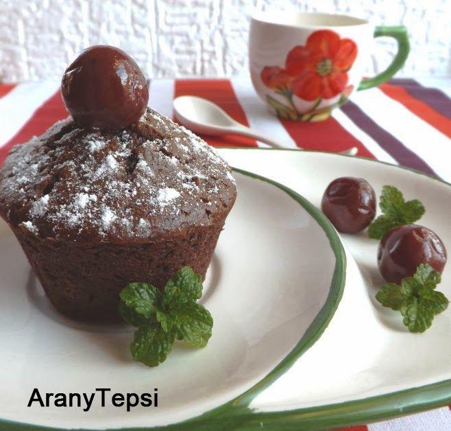 AranyTepsi: Fekete-erdő muffin