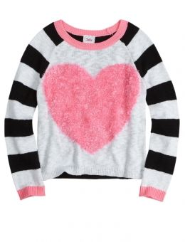 Feather Heart Sweater | Girls {category} {parent_category} | Shop Justice