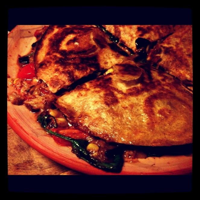 veganske Quesadillas fra Månebarnet
