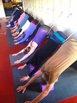 Wednesday night yoga class