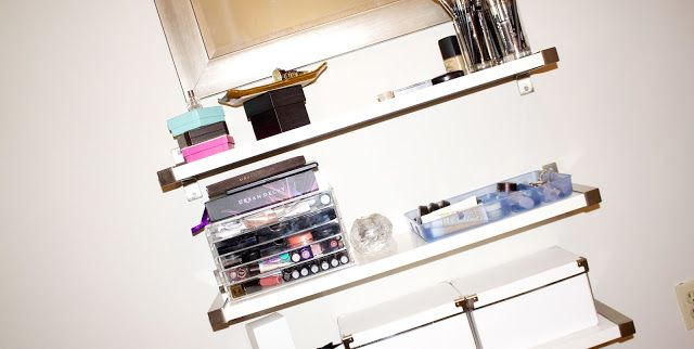 ikea ekby jar pen wall shelf floating vanity make up beauty storage