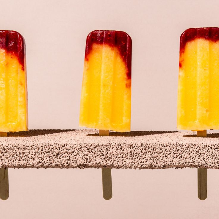 Prosecco adds a little bit of a kick to these fruity pops. Avoid the urge to add any more than the recipe calls for—too much alcohol and the pops won't freeze solid.