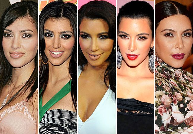 An Evolution Of Kimkardashian S Face Over The Years