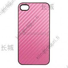 Muovinen pinkki suojakuori, iPhone 4