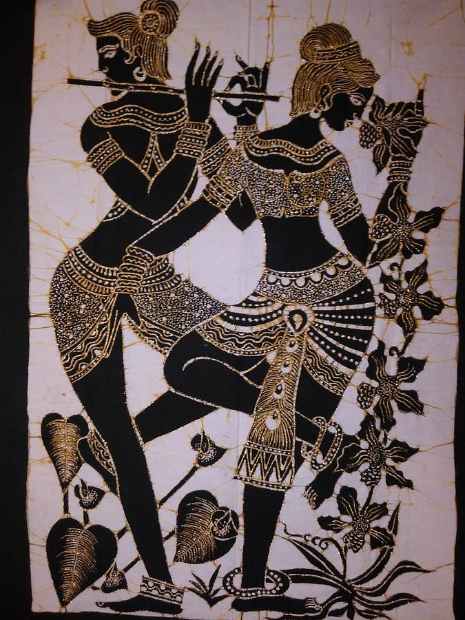 Two Lady Dancers Tapestry From A Community In Sri Lanka