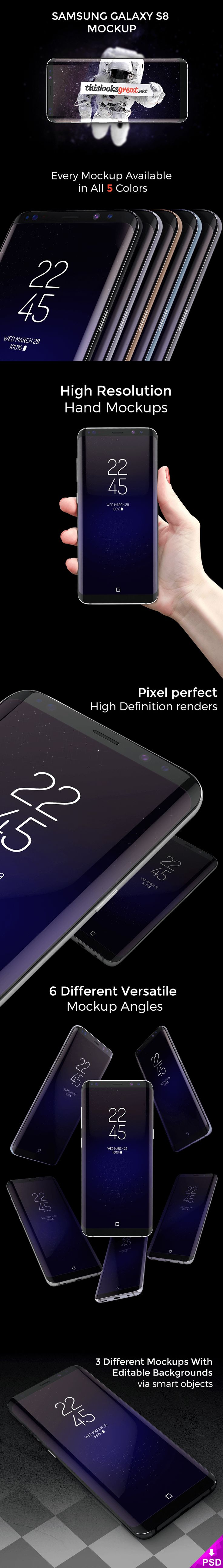 712 best mockups computer images on pinterest miniatures mock samsung galaxy s8 mockup pronofoot35fo Gallery