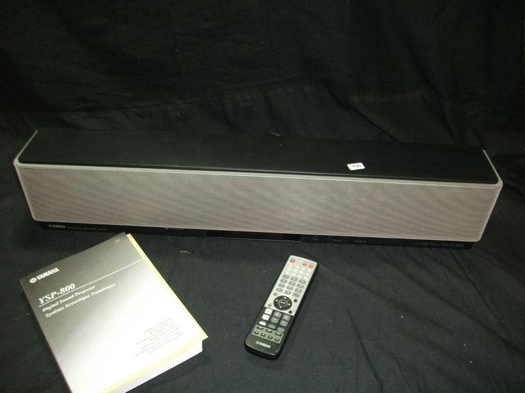 Sistema De Cine En Casa Altavoz Amplificado Yamaha YSP-800 Con Mando