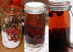 Cherry Bounce... You Can Also Use Vodka Or Any Alcohol.  I have a recipe from a friend and make many large batches a year in the spring.  I let it go until Christmas and then we all have fun!