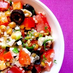 Mediterranean Quinoa Salad by aliceinparis: This is so good you will eat it straight out of the serving bowl! Even better the next day if it lasts that long.... #Salad #Mediterranean #Healthy