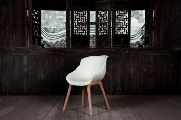 Yuhang Unveils Bamboo Paper Gú Chair: Chine Traditional, Bamboo Paper, Paper Chairs, Chine Design, Chine Style, Traditional China, China Furniture, Paper Furniture, Contemporary Design