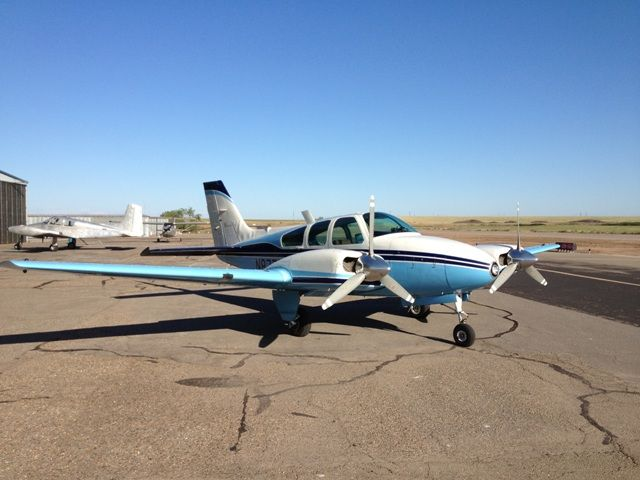 1962 Beechcraft Baron A55-95 for sale by Chase Aviation Company | Details @ http://www.airplanemart.com/aircraft-for-sale/Multi-Engine-Piston/1962-Beechcraft-Baron-A55-95/7934/