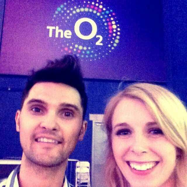 At the 02 supporting olly murs last week #amazing