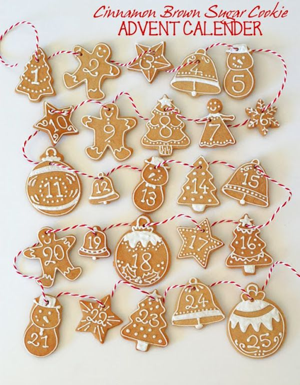 This Iced cookie advent calendar is a great DIY project with the kids. | Butter Hearts Sugar