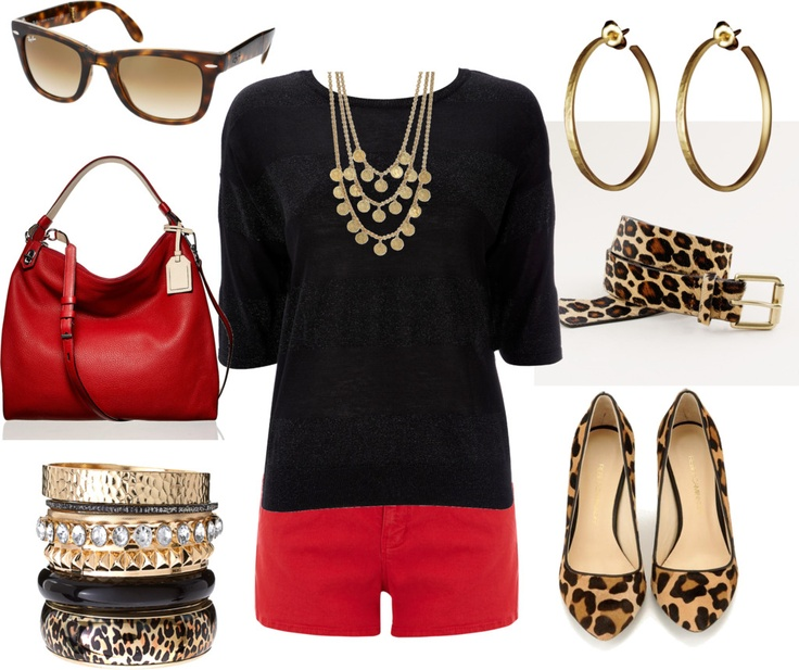 leopard with black and red