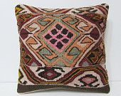 floor pillow sham 18x18 modern pillow geometric throw pillow organic pillow case crochet throw pillow floral pillow cover kilim pillow 23404
