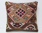 floor pillow sham 18x18 modern pillow geometric throw pillow organic pillow case crochet throw pillow floral pillow cover kilim pillow 23404
