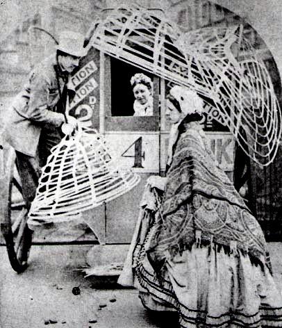 crinoline hoops - 1850-1880: Public Transportation, Skirts, Fashion History, 19Th Century, Hoop Seller, Victorian, Hung, Photo, 1800S