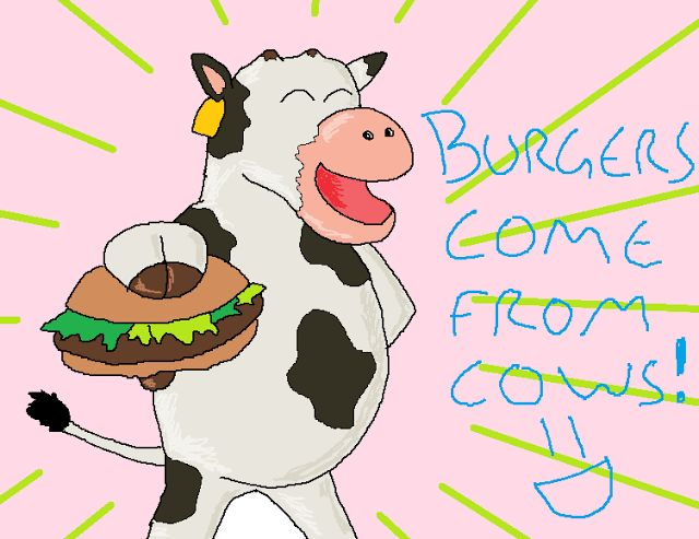 Cows love making burgers for you kids =D http://dangermusichelps.blogspot.co.uk/2015/07/a-crispy-duck.html