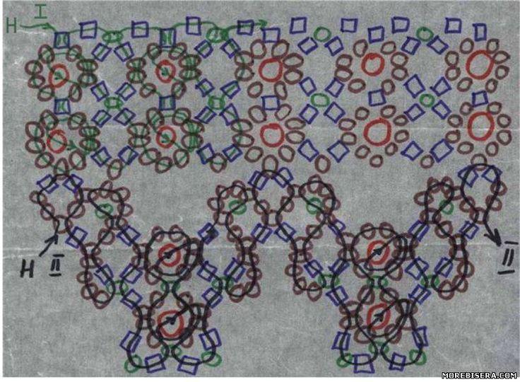 Колье - Схемы плетения