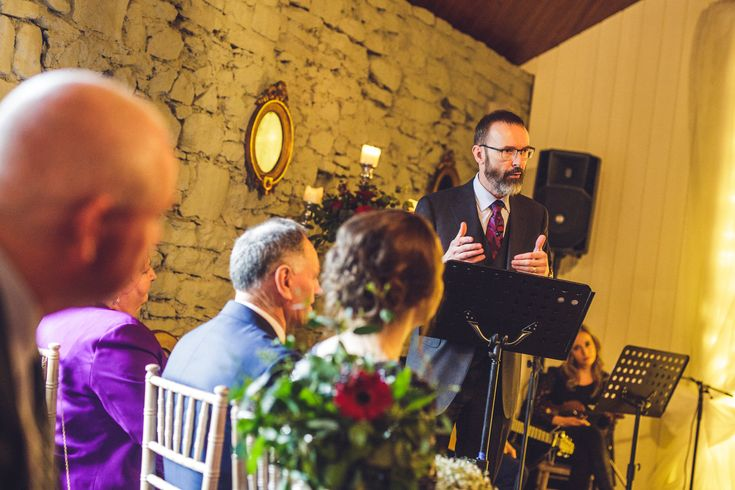 Kathryn & Damien, Humanist wedding conducted by Joe Armstrong at Clonabreany House, Co. Meath, 16 December 2017