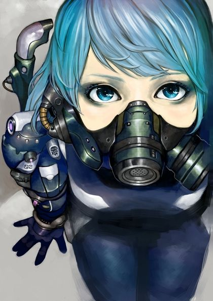31 best images about anime girls gas masks on pinterest - Anime girl with gas mask ...