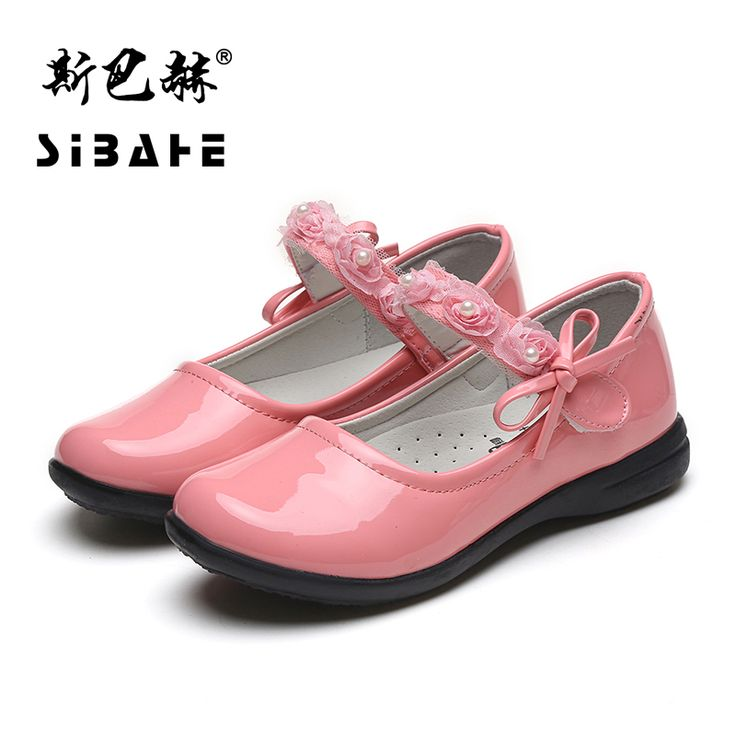 children girls leather shoes flower child girl dress shoes kids school shoes spring summer New