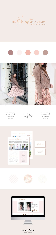 The Fashionista's Diary: Custom Blog Design for WordPress, logo design, wordpress theme, mood board inspiration, blog design idea, graphic design, branding, style blog, fashion, style blog design, style blog logo, feminine branding